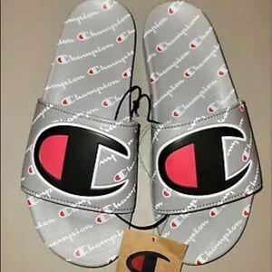 Gray Ipo Repeat Champion Slides Size 10 Mens